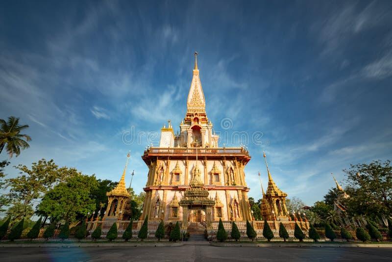 Chalong-Tempel in Phuket Thailand stockfoto