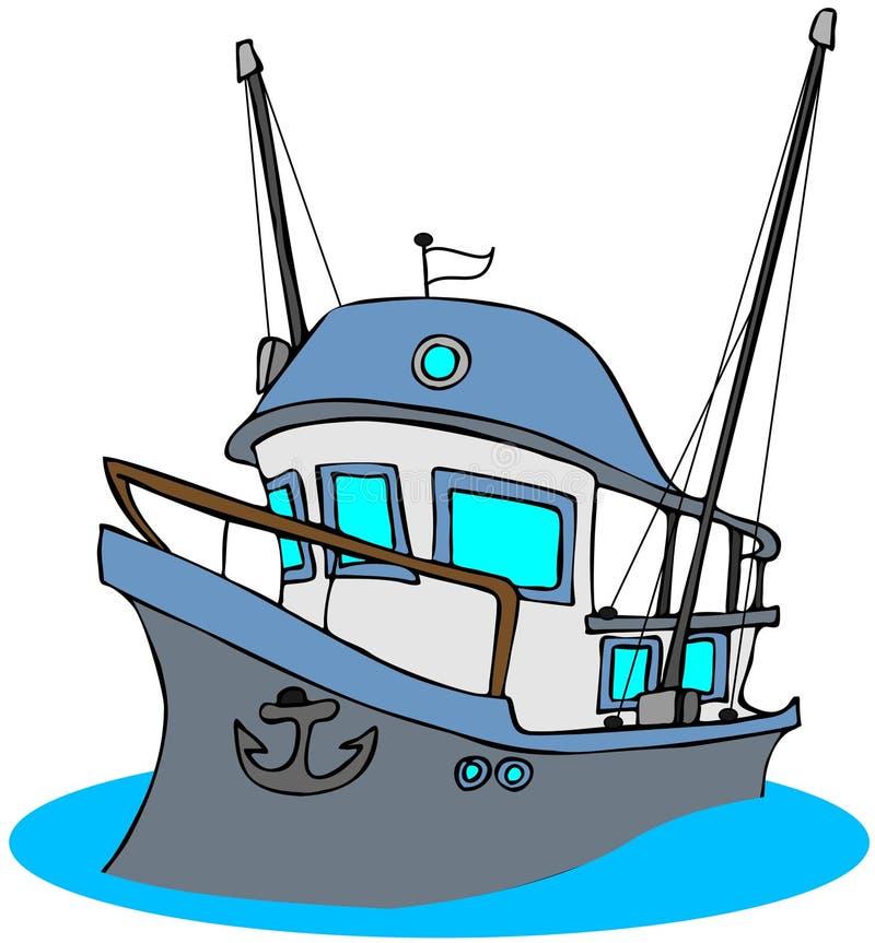 Chalutier de pêche illustration de vecteur