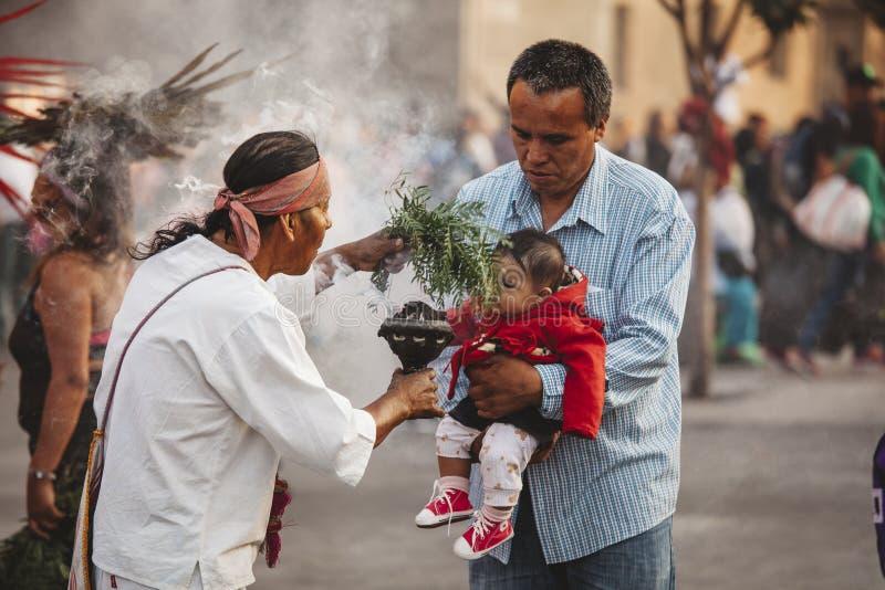Chamán azteca, Ciudad de México foto de archivo libre de regalías