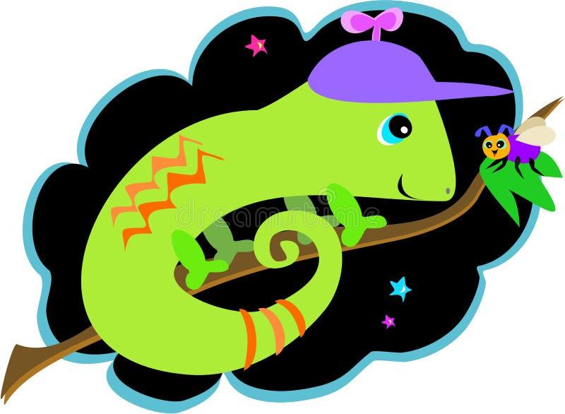 Download Chamäleon-und Fliegen-Freunde Vektor Abbildung - Illustration von karikatur, nett: 9092244