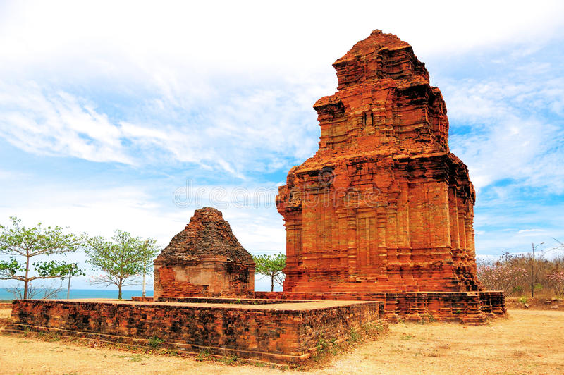 Cham tower, Vietnam royalty free stock images
