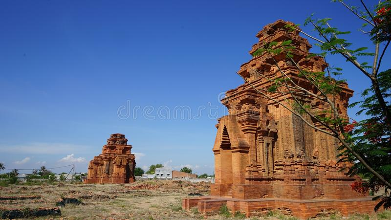 CHAM TOWERS stock images