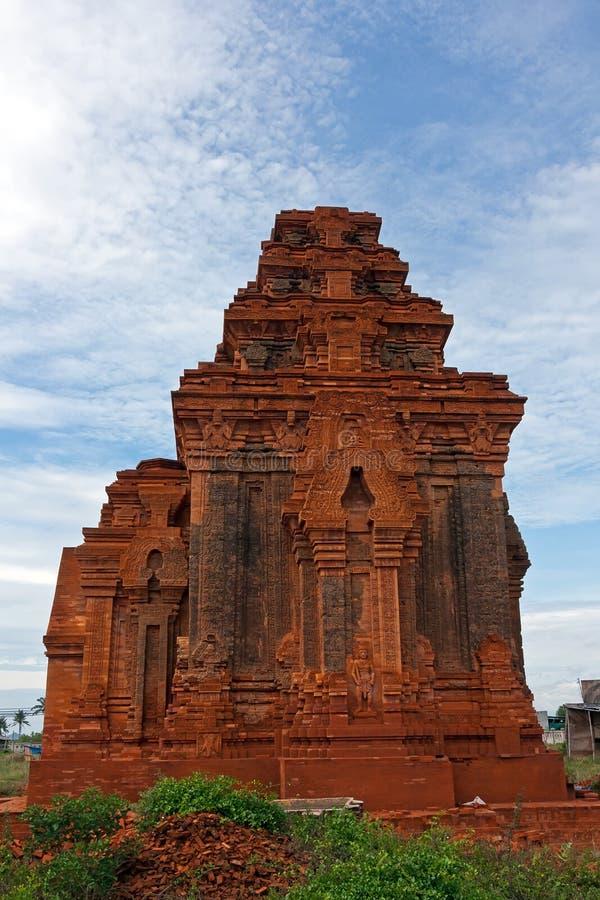 Cham wierza - jeden antyczna architektura w Wietnam zdjęcie royalty free