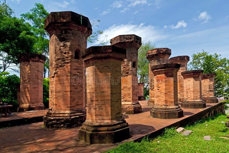 Cham wierza - jeden antyczna architektura w Wietnam fotografia stock