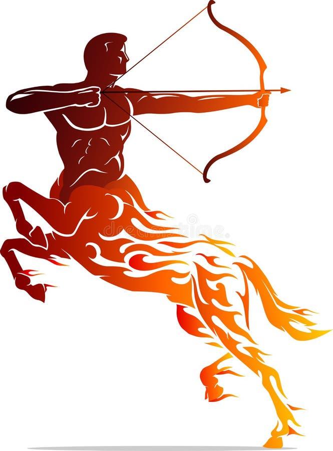 Chama Archer Tattoo do centauro ilustração do vetor