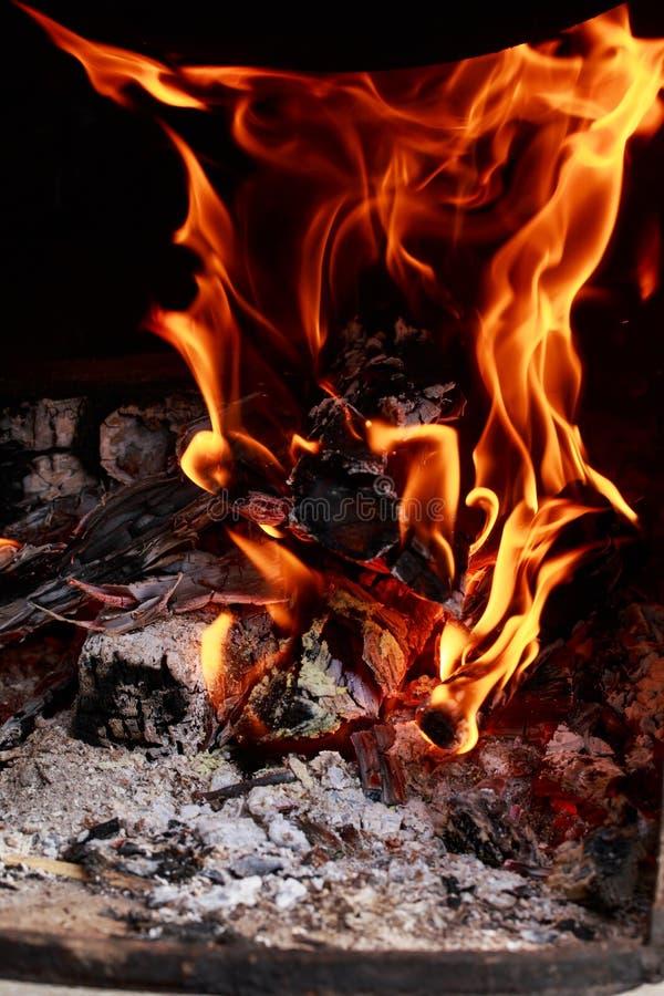 Chama do fogo do fogo foto de stock royalty free