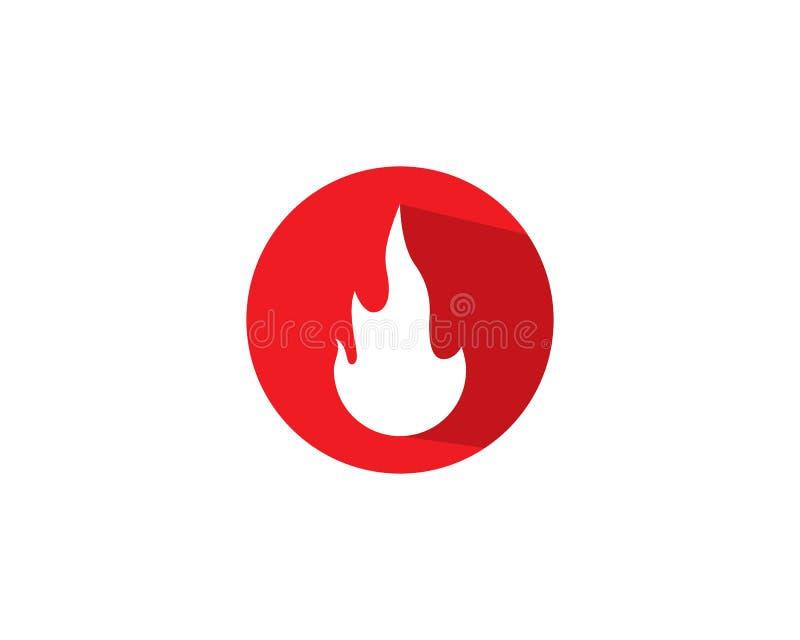 Chama Logo Template do fogo ilustração royalty free