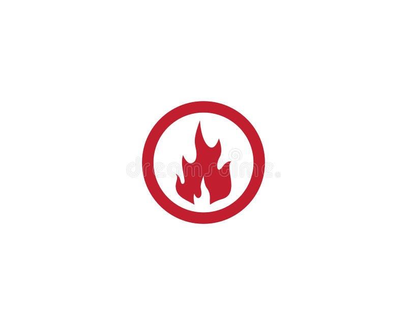 Chama Logo Template do fogo ilustração stock