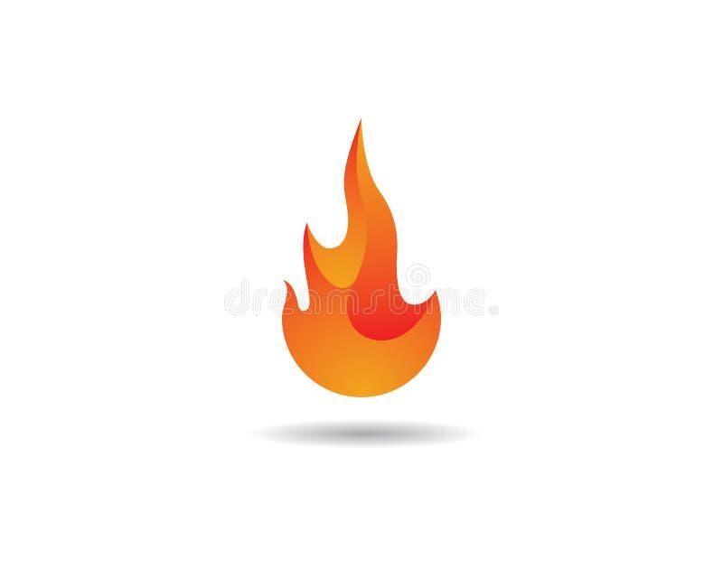 Chama Logo Template do fogo ilustração do vetor
