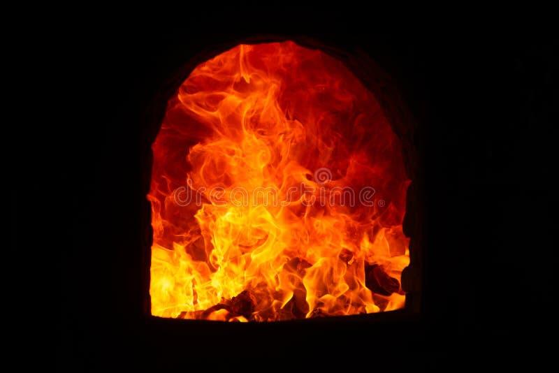 Chama no incinerador imagens de stock