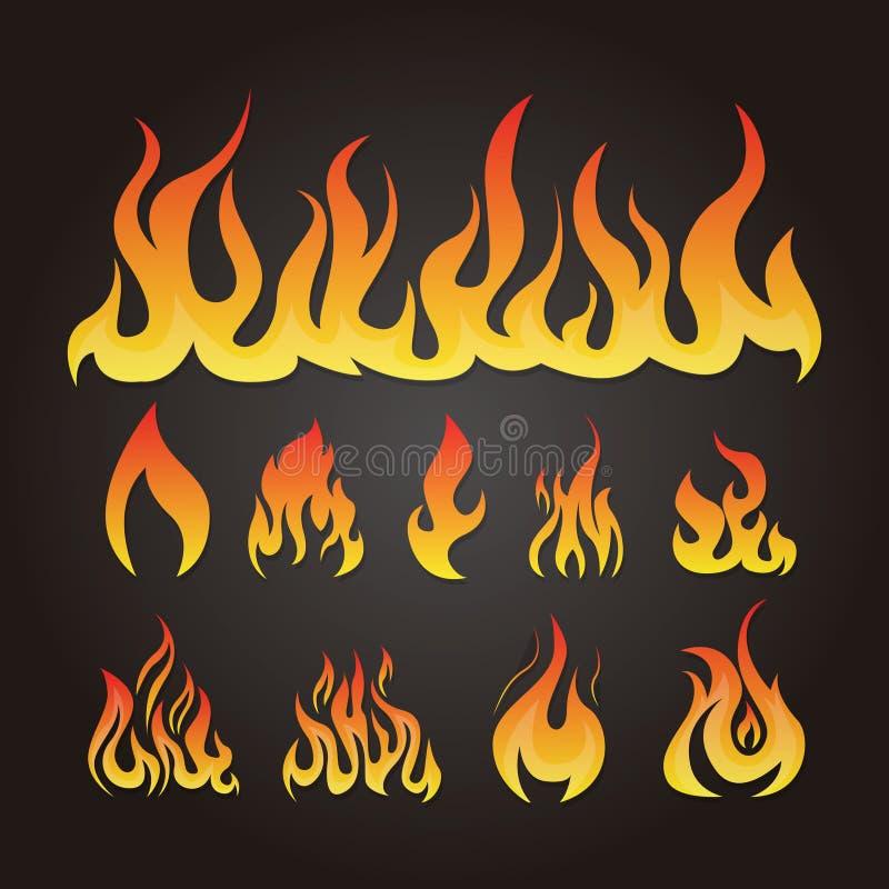 Chama quente e incêndio ilustração royalty free