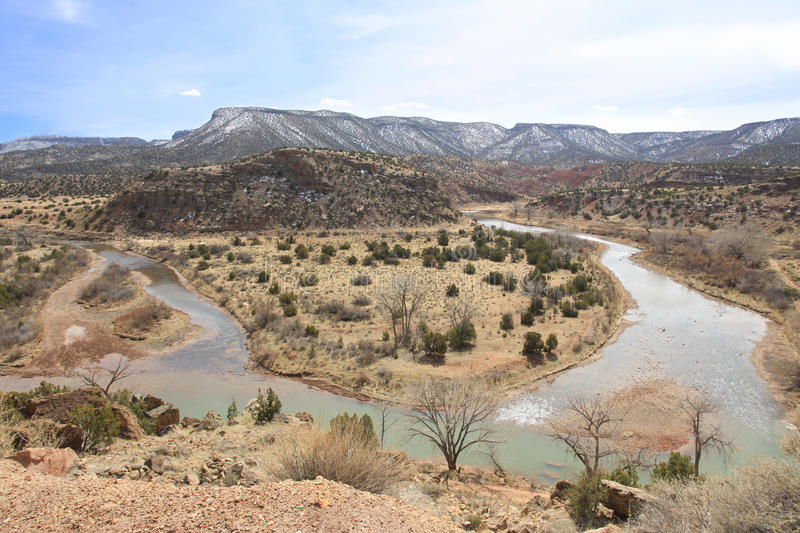 Chama River New Mexico. Beautiful Chama River New Mexico USA stock images