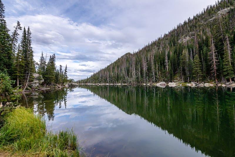 A chamada de Rocky Mountain National Park fotos de stock