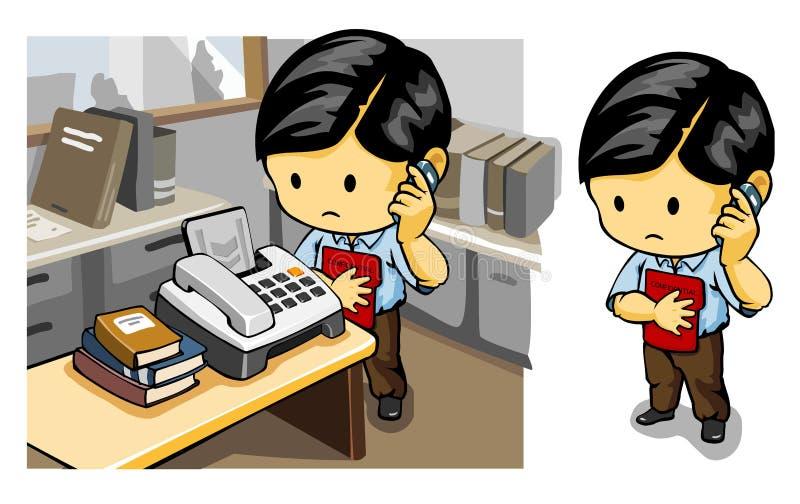 Chamada para o fax ilustração do vetor