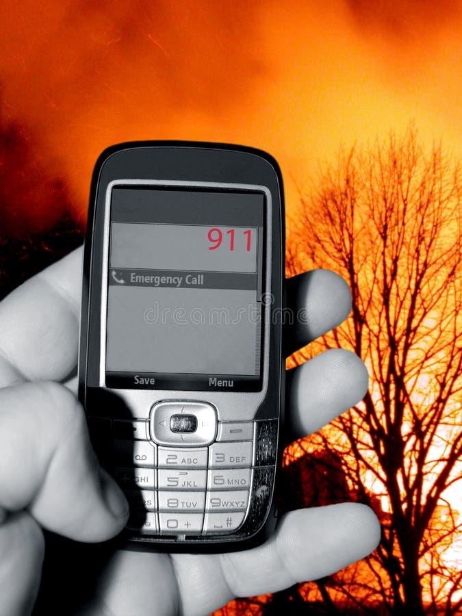 Chamada telefónica de 911 emergências imagem de stock royalty free