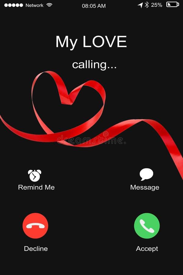 Chamando minha amor, homem ou fêmea recebendo uma chamada do seu/seu soldado imagem de stock royalty free