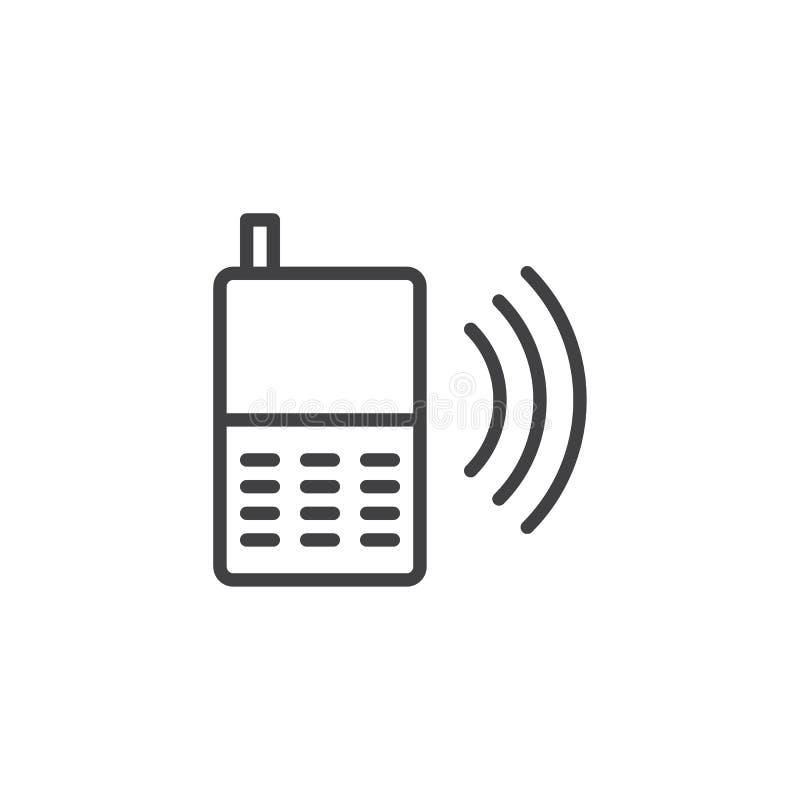 Chamando o ícone do esboço do telefone ilustração stock