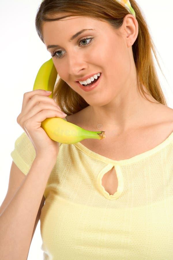 Chamando o conselheiro comendo saudável foto de stock royalty free