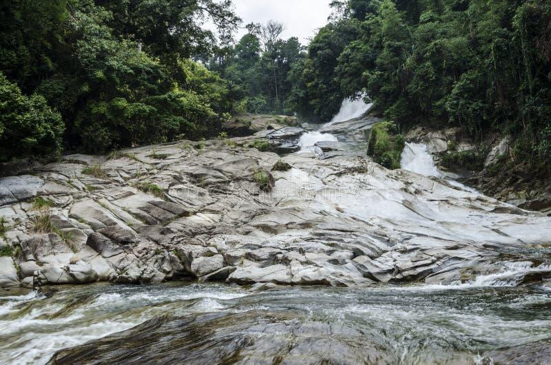 Chamang瀑布, Bentong,马来西亚 库存照片