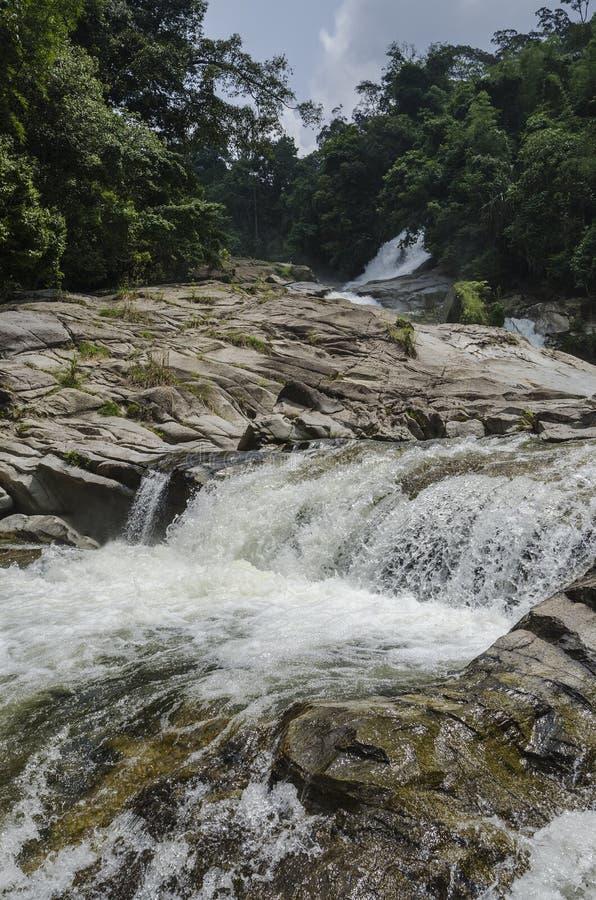 Chamang Waterfall, Bentong, Malaysia stock images
