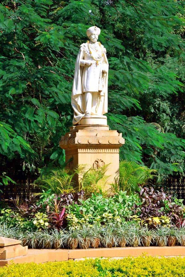 Chamarajendra Wadiyars statue at Cubbon Park, Bengaluru (Bangalore) stock images