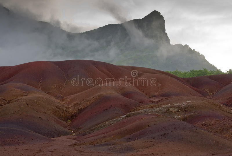 Chamarel`s Coloured Earths. A natural phenomenon royalty free stock photo