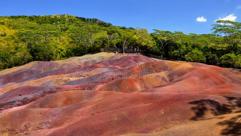 Mauritius Island, Chamarel Seven Coloured Earths royalty free stock images