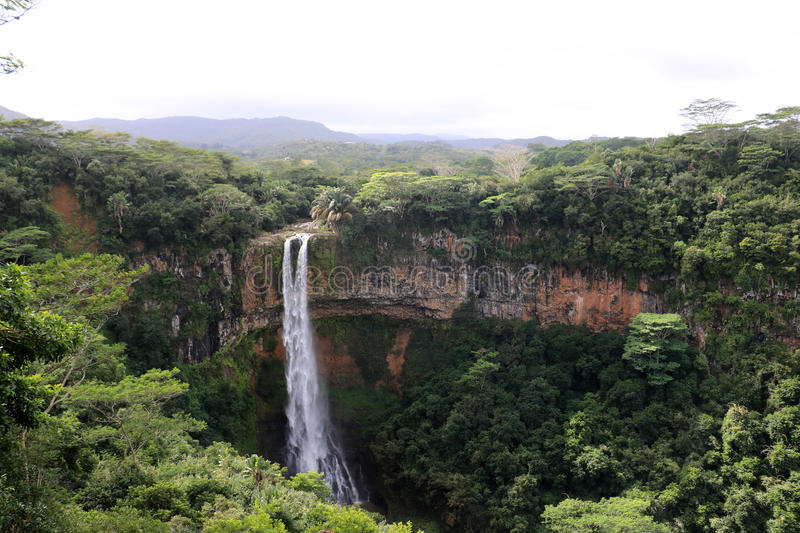 Chamarel Waterfall, Mauritius royalty free stock photography