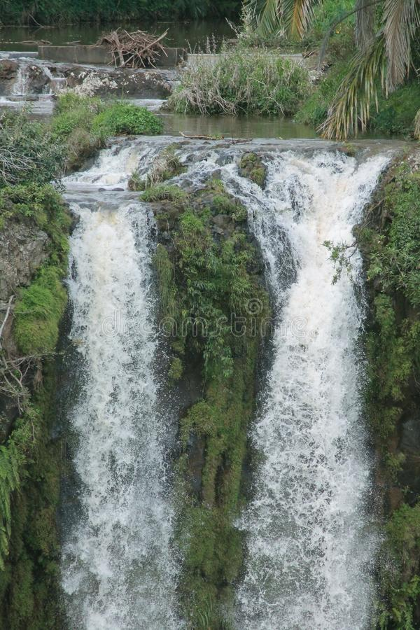 The Chamarel waterfalls in Mauritius royalty free stock image