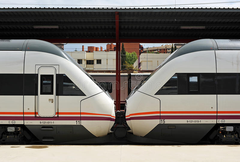 Chamartin drevstation i Madrid, Spanien arkivbild