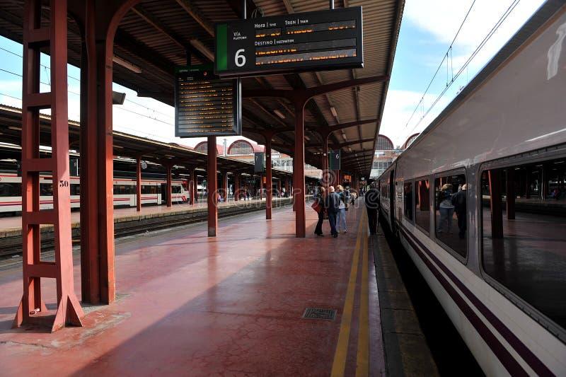 Chamartin drevstation i Madrid, Spanien arkivbilder