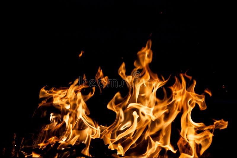 Chamas do fogo imagens de stock