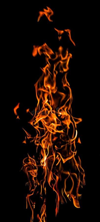 Chamas do fogo da dança fotos de stock