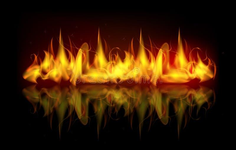 Chamas do fogo do vetor ilustração stock