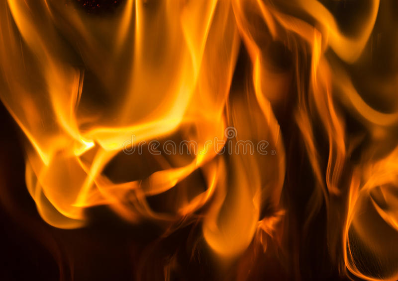 Chamas do incêndio foto de stock