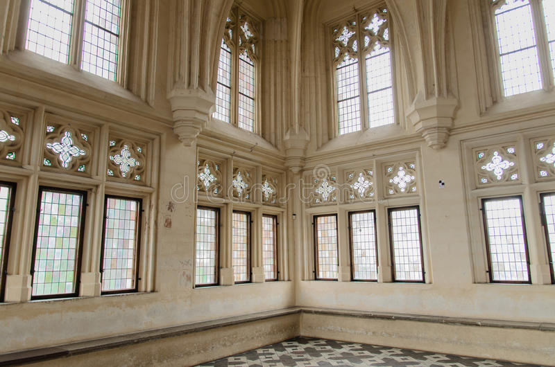 Chamber of the biggest gothic castle in Europe. Chamber of Malbork castle in Poland. The castle built in gothic style used to be Teutonic Order residence royalty free stock photo