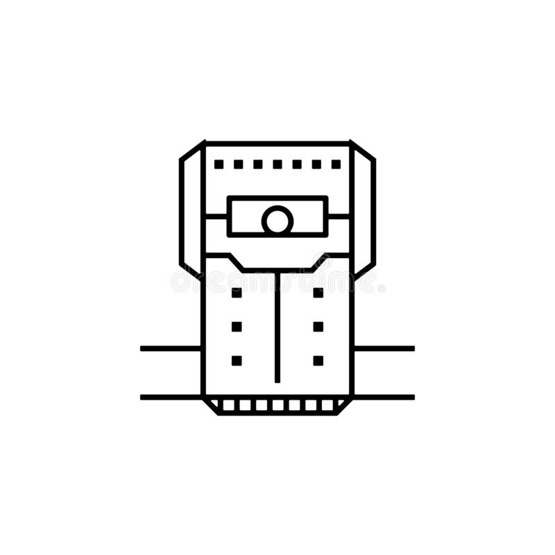 Chamber, crew, cryogenic, room, space icon. Element of future pack for mobile concept and web apps icon. Thin line icon for. Website design and development, app stock illustration