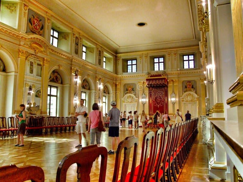 Chamber Senatoren im königlichen Schloss in Warschau stockbilder