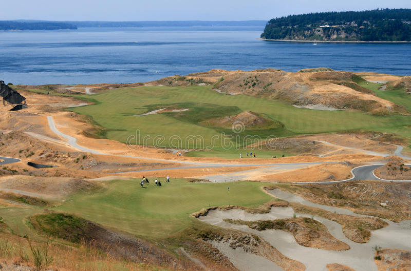 Chambers Bay Golf Course. University City, Washington, USA – August 2, 2009: Chambers Bay Golf Course, venue of US Open 2015 royalty free stock images