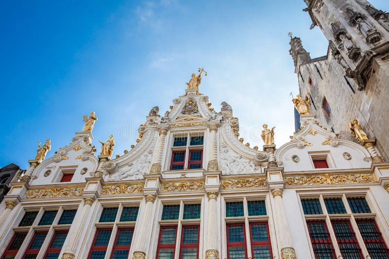 Chambers building on Castle Square in Bruges. The Chambers building on Castle Square in Bruges royalty free stock image