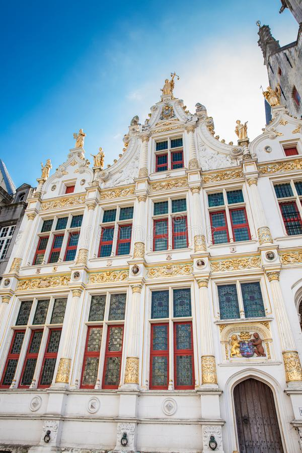 Chambers building on Castle Square in Bruges. The Chambers building on Castle Square in Bruges stock photography