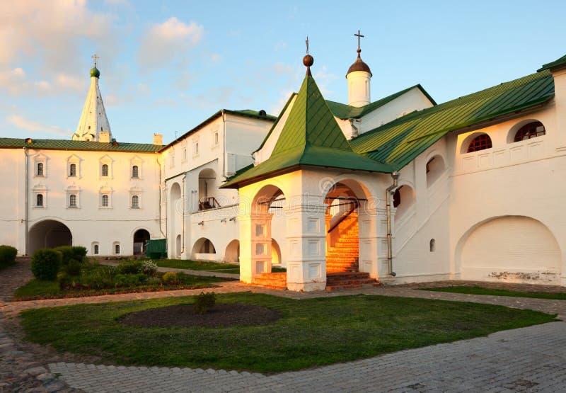 Chambers del Bishop di Suzdal Kremlin. immagine stock
