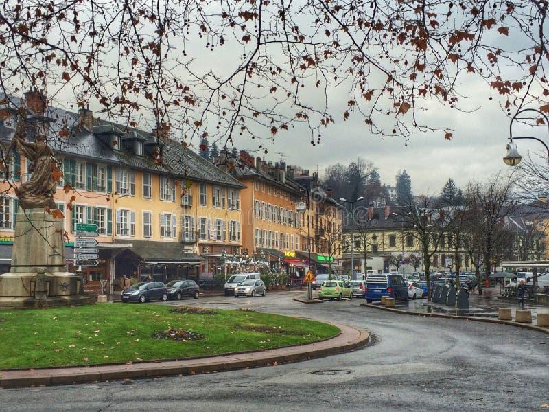 Chambery an einem regnerischen Tag, Frankreich lizenzfreies stockfoto