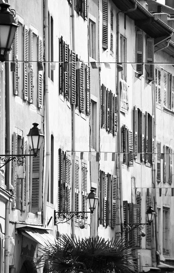 Chambery house facades royalty free stock photography