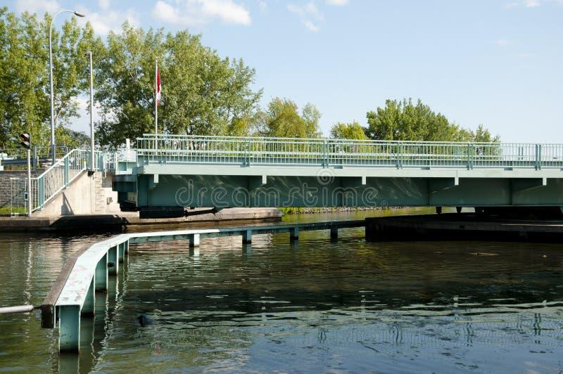 Chambly运河桥梁-魁北克-加拿大 免版税图库摄影