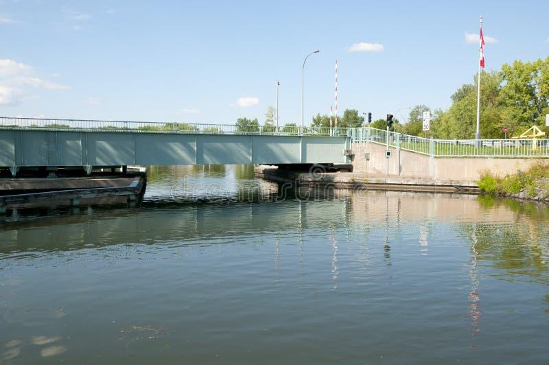 Chambly运河桥梁-魁北克-加拿大 库存图片