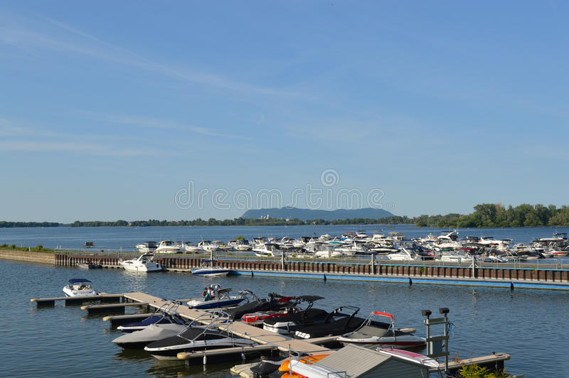 Chambly, a historical town. Chambly, Canada - 24 June, 2016: Chambly, a historical town located in Quebec outside of Montreal on the Richelieu River, includes royalty free stock image