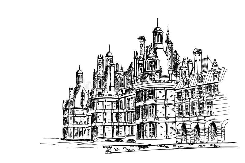 Chambord城堡,法国 库存例证