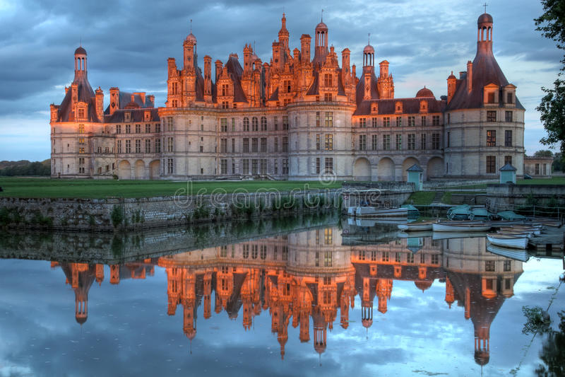 chambord大别墅de法国 免版税库存照片