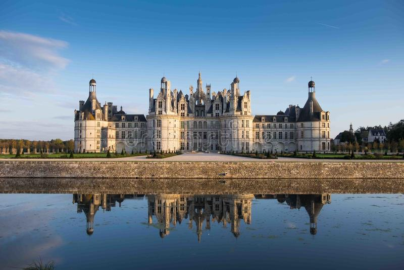 chambord大别墅de法国Loire Valley 图库摄影